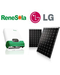 2 Kw LG Solar Power System + Delta 2500W Inverter